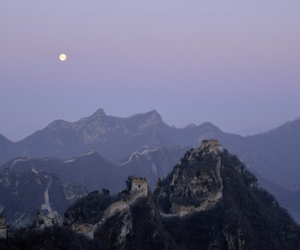 grunge, moon, and china image