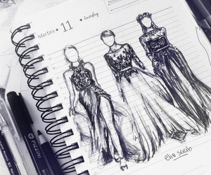 fashion, dress, and drawing image