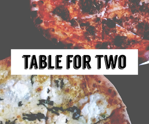 pizza, food, and two image