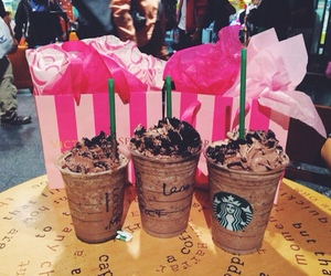 starbucks, chocolate, and pink image