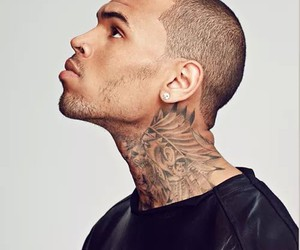 chris brown, tattoo, and chris image