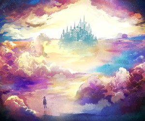 clouds, Dream, and castle image