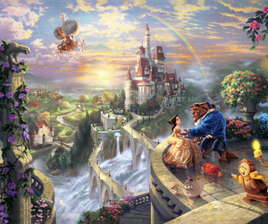 beautiful, beauty and the beast, and painting image