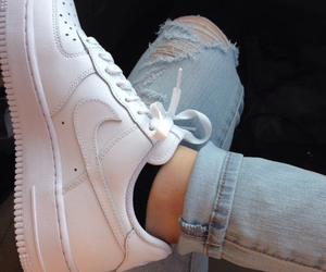 air force, jeans, and white image
