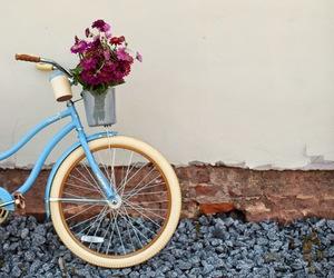 flowers, amazing, and bike image