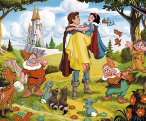 disney, snow white, and love image