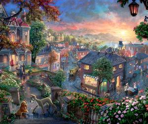 beautiful, fairy tale, and thomas kinkade image