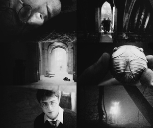 beautiful, black and white, and daniel radcliffe image