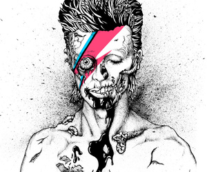 david bowie, zombie, and bowie image