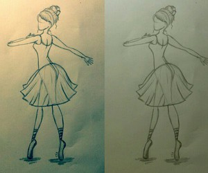 dance, drawing, and girl image