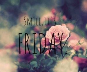 smile, friday, and flowers image