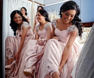 dress, wedding, and girls image