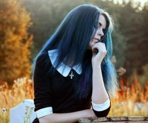 awesome, blue, and bluehair image