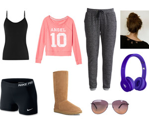 lazy day, outfit, and Polyvore image