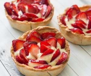 strawberry, food, and dessert image