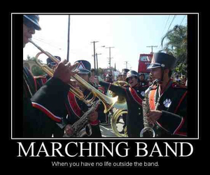 band, marching band, and band geek image