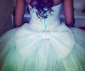 dress, bow, and blue image