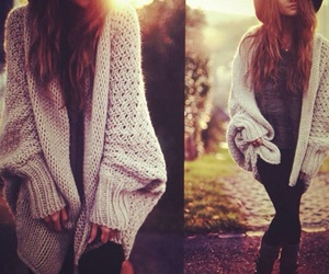fall, cardigan, and sweater image