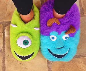 monster, disney, and slippers image