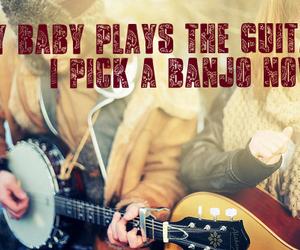 banjo, guitar, and old crow medicine show image