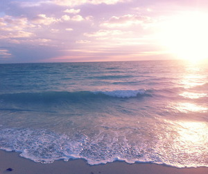 beach, blue, and sunlight image
