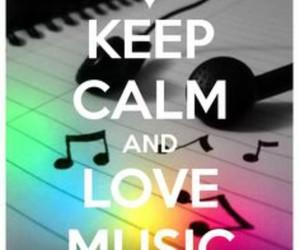 music, keep calm, and love music image