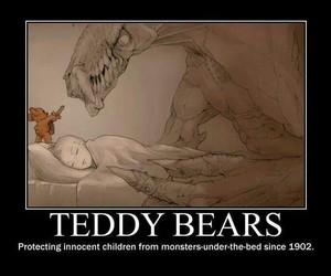 teddy bear, monster, and teddy image