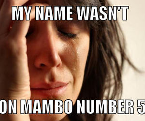 mambo number 5 and funny image