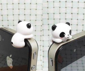 panda, iphone, and kawaii image