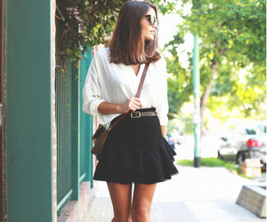 black and white, boots, and street fashion image