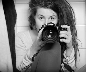 camera, dreads, and nikon image