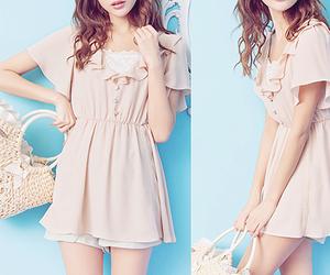 bag, dress, and korean fashion image