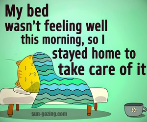 bed, funny, and care image