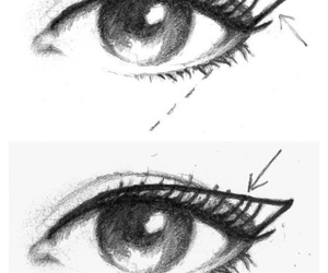 eyeliner, skin, and eyes image