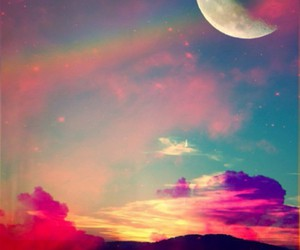 beautiful, hipster, and moon image