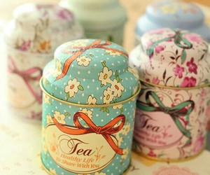 tea and floral image