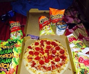 food, candy, and pizza image