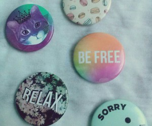 be free, burger, and buttons image