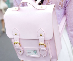 bag, pink, and pastel image