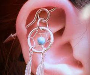 dreamcatcher, earrings, and piercing image