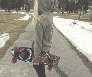 blonde, cold, and girl image