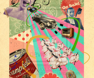 Collage and pop art image