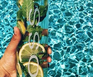 voss, water, and lemon image