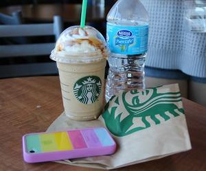 starbucks, yum, and iphone image