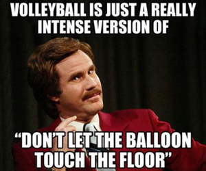 volleyball, funny, and balloon image