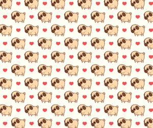 backs, heart, and pug image