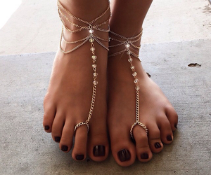 bling, feet, and jewelry image
