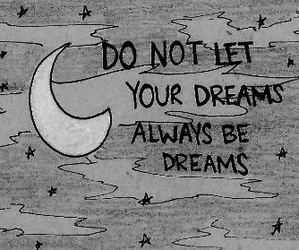 Dream, quote, and moon image