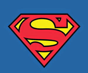 background, blue, and superman image