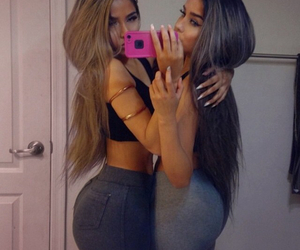 ass, hair, and phone image